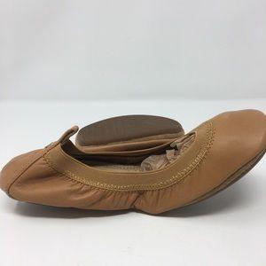 NWOT Yosi Samra Tan Ballet Slippers Size 7